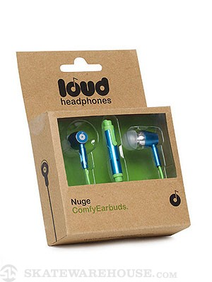 Loud Headphones Nuge Earbuds  Blue/Green