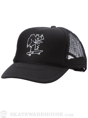 L.E. Mongo Chicken Mesh Hat Black/White Adjust