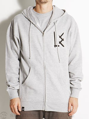 L.E. OG Logo Hoodzip Heather Grey LG