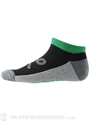 LRG Core Collection Two No Show Socks Black 10-13