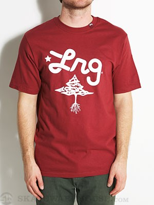 LRG Core Collection Two Tee Maroon XL