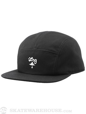 LRG Core 5 Panel Hat Black