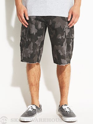 LRG Team TS Cargo Shorts Black Camo 32