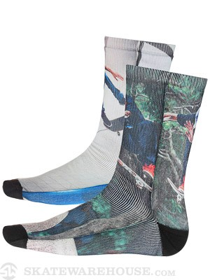 LRG Chico/TX Crew Socks Multi SM/MD