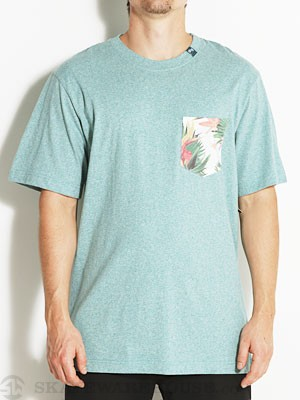 LRG Hawaiian Safari Pocket Tee Lt Teal Hthr SM