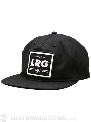 LRG Lifted G Snapback Hat Black