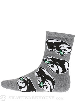 LRG Lots Of Panda Crew Socks Ash SM/MD
