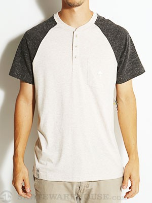 LRG Research Coll S/S Raglan Henley Black MD