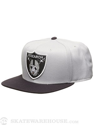 LRG Raid & Research Snapback Hat Light Grey