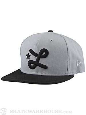 LRG Team L New Era Snapback Hat Grey