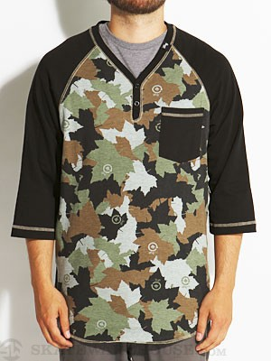 LRG Uprise Y-Neck Henley Camo MD