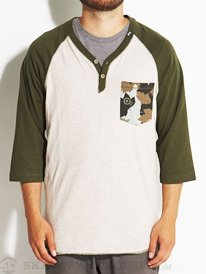 LRG Uprise Y-Neck Henley Putty LG
