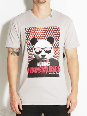 LRG Visionaries Slim Fit Tee Silver SM