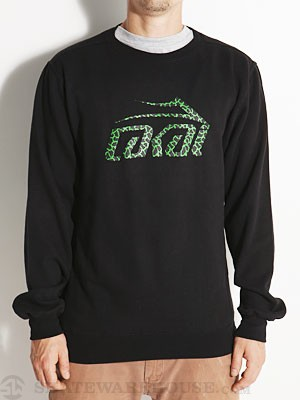 Lakai Crackle Crew Sweatshirt Black MD