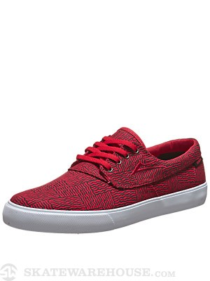 Lakai Camby Shoes Red Canvas
