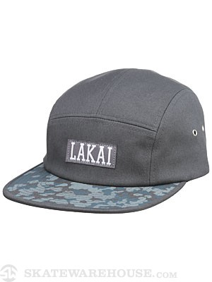 Lakai Dynasty 5 Panel Hat Charcoal Adj.