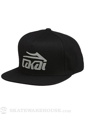 Lakai Etch Snapback Hat Black Adjust