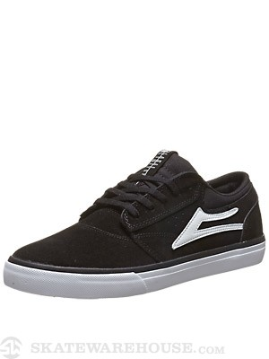 Lakai Griffin Shoes  Black/White Suede