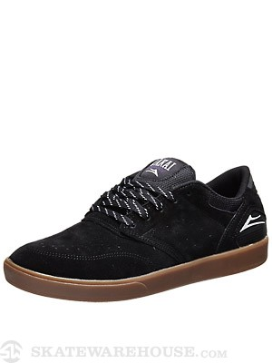 Lakai Guy Shoes Black/Gum Suede