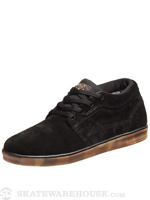 Lakai Howard Desert Boot Shoes  Black Camo Suede