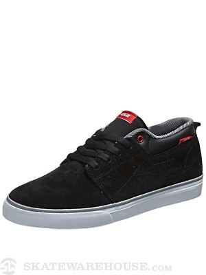 Lakai Marc Shoes  Black/Red Suede