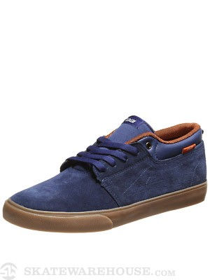 Lakai Marc Shoes  Navy Suede