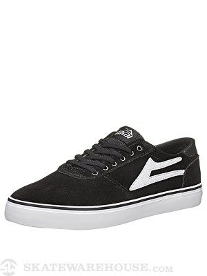 Lakai Manchester Lean Shoes  Black/White Suede