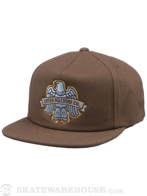 Loser Machine Mercury Snapback Hat Brown Adj.