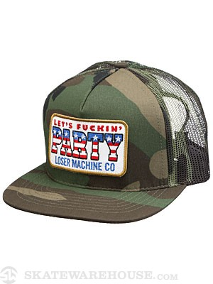 Loser Machine Washington Trucker Hat Camo Adjust