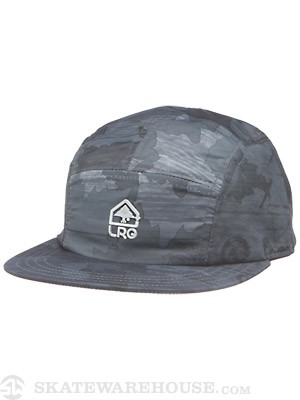 LRG Wood Camo 5 Panel Hat Navy