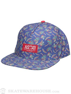 Lost Mexicali Snapback Hat Blue Adjust
