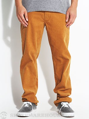 Lost Crooked Cord Pants Tobacco 38