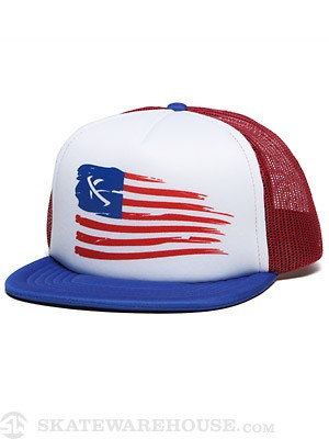 Lost Colonize Mesh Hat Blue Adjust