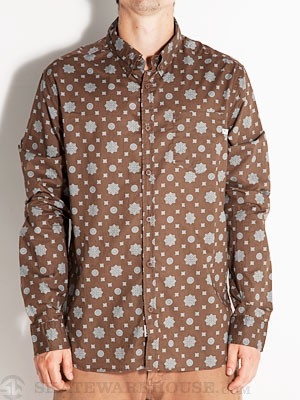 Lost Drake Woven Shirt Brown SM