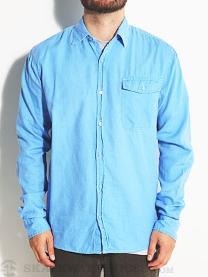 Lost Super Solid L/S Woven Shirt Blue SM