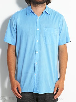 Lost Sunwashed Solid Woven Shirt Blue LG