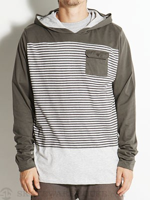 Lost Warped Pullover Knit Shirt Brown SM