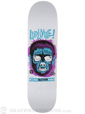 Lurkville Wolfman Mask White Deck 8.375 x 32.5