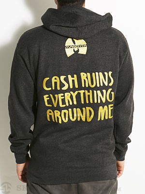 Magenta Cash Ruins Hoodie Heather Charcoal XL
