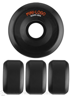 Mini Logo A-Cut Black 99a Wheels 60mm
