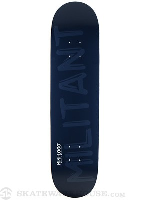 Mini Logo Militant Shape 124 Navy Deck 7.5 x 31.375