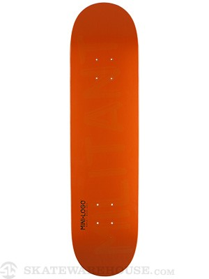 Mini Logo Militant Shape 124 Orange Deck 7.5 x 31.375