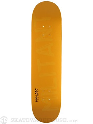 Mini Logo Militant Shape 124 Yellow Deck 7.5 x 31.375