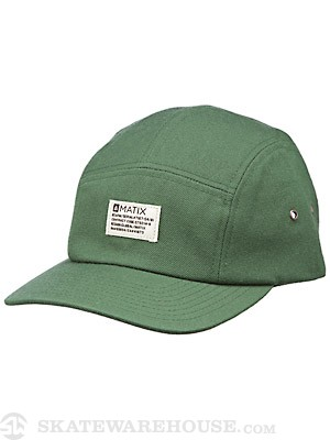 Matix Daily 5 Panel Hat Hunter Green Adjust
