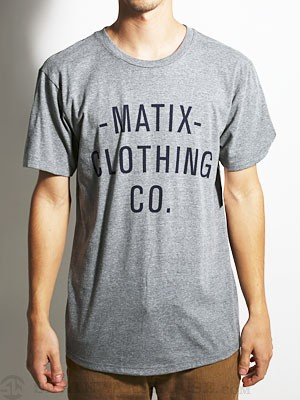 Matix The Company Tee Athletic Heather LG