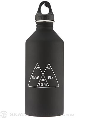 Mizu M12 Poler Water Bottle  Gloss Black/Glow