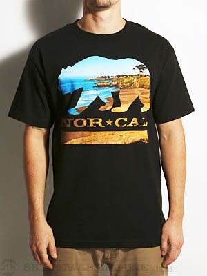 Nor Cal Beach Bear Tee Black MD