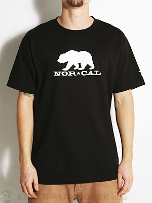 Nor Cal Black Bear Glow in the Dark Tee Black SM