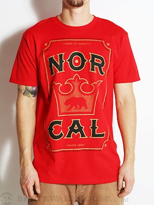 Nor Cal Crowned Tee Red SM