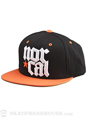 Nor Cal MDVL Snapback Hat Black/Orange